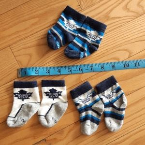 3 Pairs of NHL Maple Leafs Socks for Infants